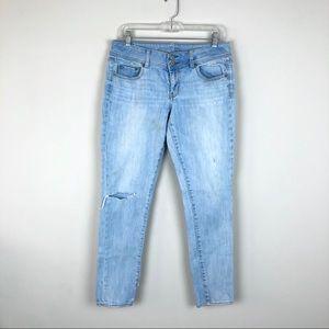 [American Eagle] Light Wash Distressed Skinny Jean